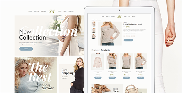 Summer Moon – Fashion Store Muse Template