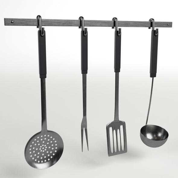 Kitchen Tools Utensils Rack - 3DOcean Item for Sale