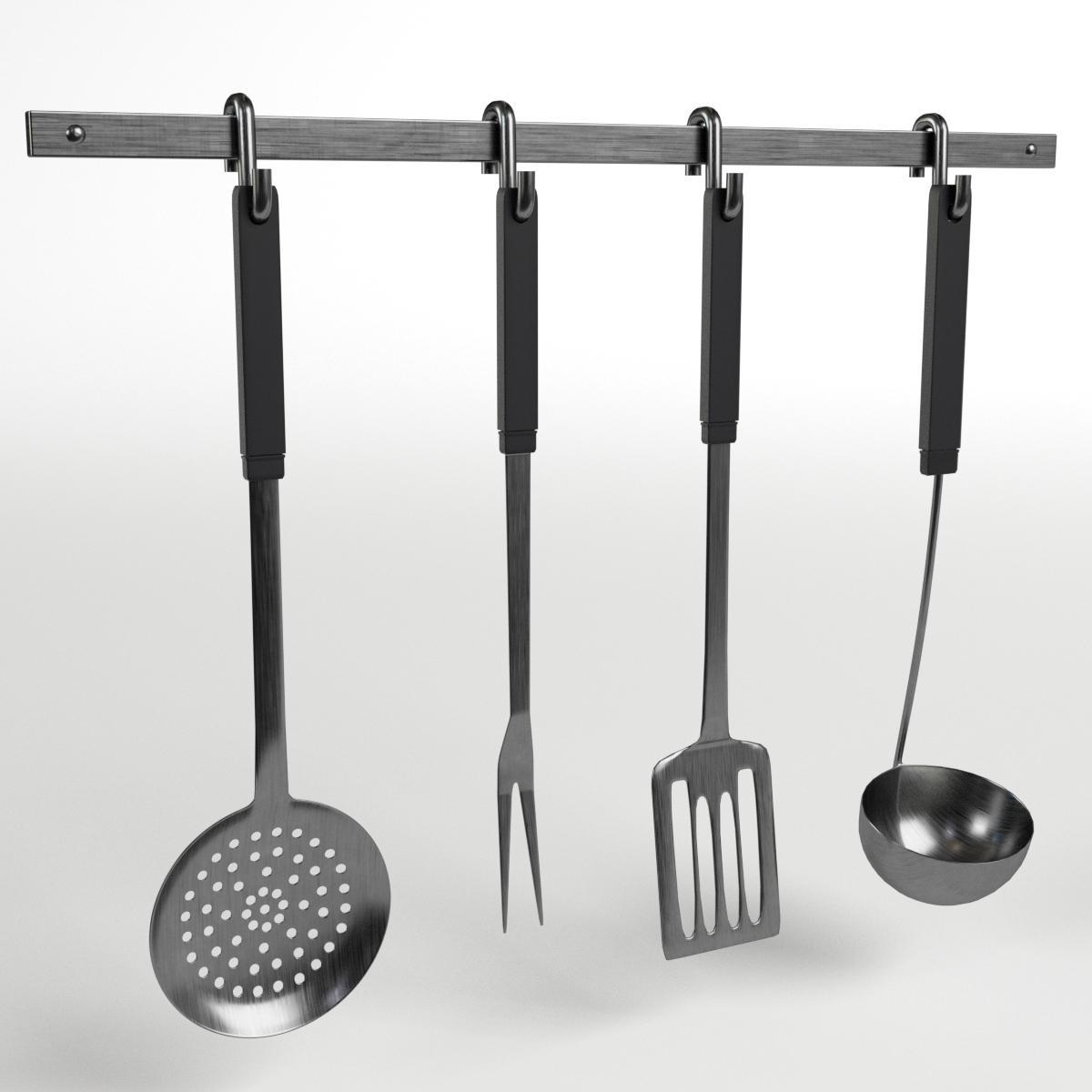 kitchen tools utensils rack by francescomilanese  docean - imagesetkitchentoolsutensilsrack