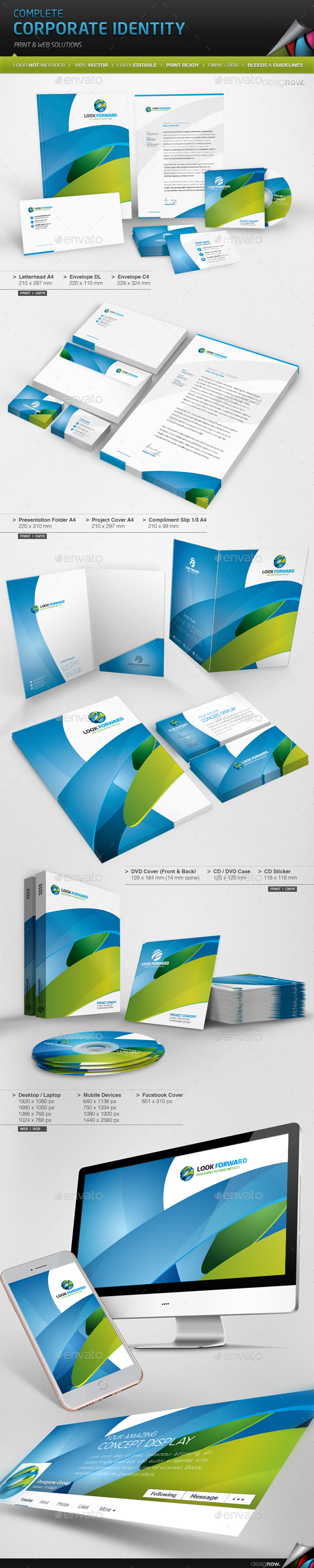 Corporate Identity - Look Forward - Stationery Print Templates