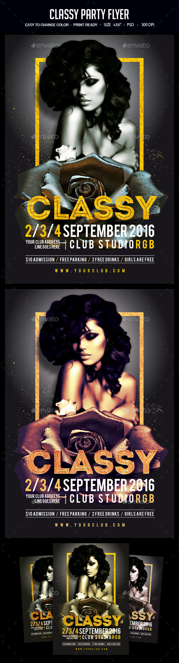 Classy Party Flyer - Clubs & Parties Events