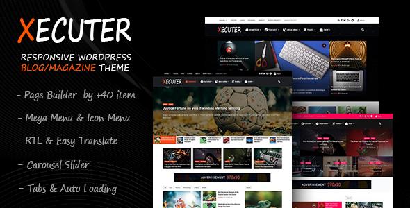 Xecuter - Responsive WordPress Blog Magazine Theme - News / Editorial Blog / Magazine