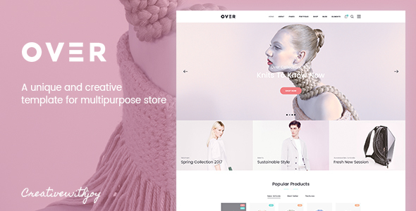 Over - Multi-Purpose eCommerce PSD Template - Retail PSD Templates