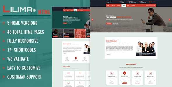 Lilima Business Template - Corporate Site Templates