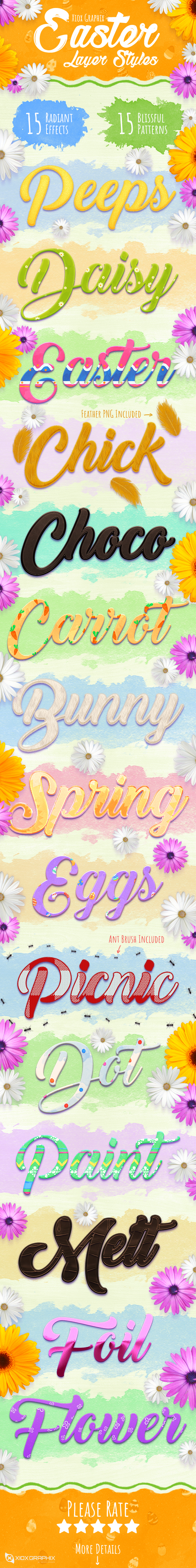 Easter Layer Styles - Text Effects Styles