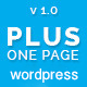 Plus - One Page Marketing Portfolio WordPress Theme Nulled