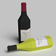 Wine Bottles Low Poly - 3DOcean Item for Sale