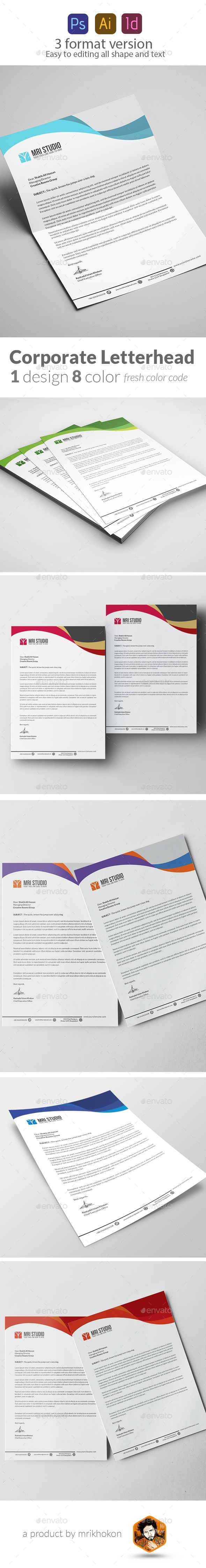 Letterhead Pad Template - Stationery Print Templates