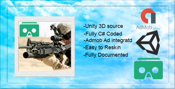 VR Commando Strike Game | Unity 3D Source | 5 ADS Network Integration with Admob | Google Cardboard - CodeCanyon Item for Sale