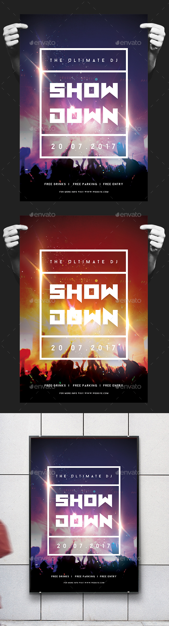 DJ Showdown Flyer / Poster - Concerts Events