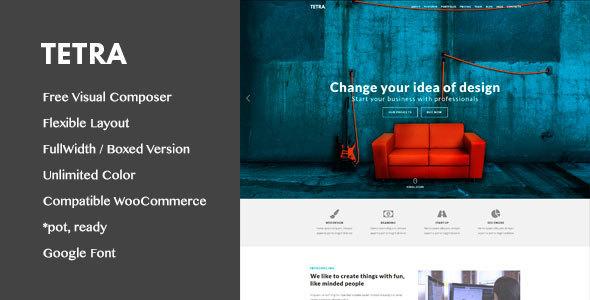 Tetra - Multipurpose Marketing & Landing Pages WordPress Theme - Marketing Corporate