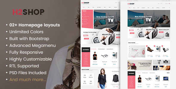 H2shop - Responsive WooCommerce Shop WordPress Theme
