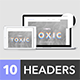 Headers Set for Web #3 - GraphicRiver Item for Sale