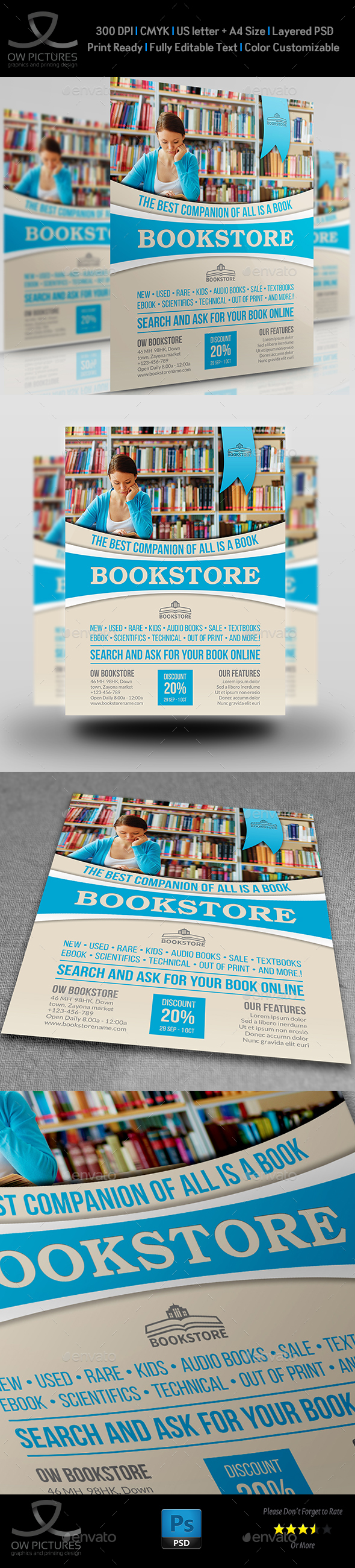 Bookstore Flyer Template - Flyers Print Templates