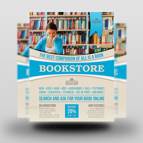 02_Bookstore_Flyer_Template Advertising Business Letters Template on