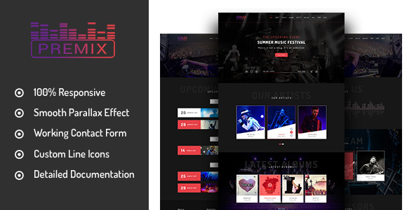 Premix – Music Event HTML5 Template