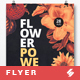 Flower Power - Party Poster / Flyer Artwork Template A3