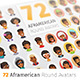 Flat African American Round Avatars - GraphicRiver Item for Sale