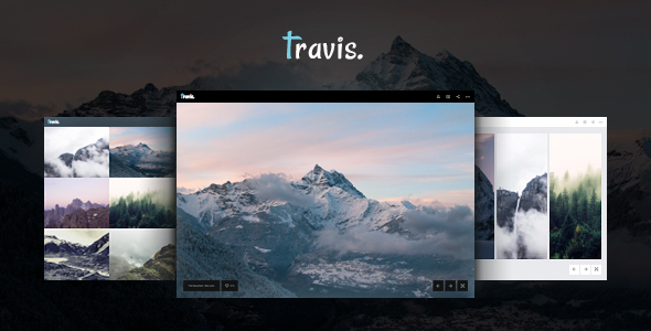 Travis HTML – Photography and Gallery Photo Site Template