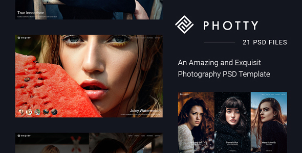 Photty PSD – Photo Gallery and Photoblog Template