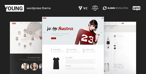 Young WP – Fashion Portfolio WordPress Theme and Shop