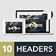 Headers Set for Web #4 - GraphicRiver Item for Sale