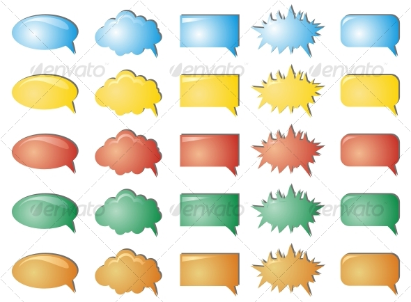 Colour bubbles collection - Decorative Symbols Decorative