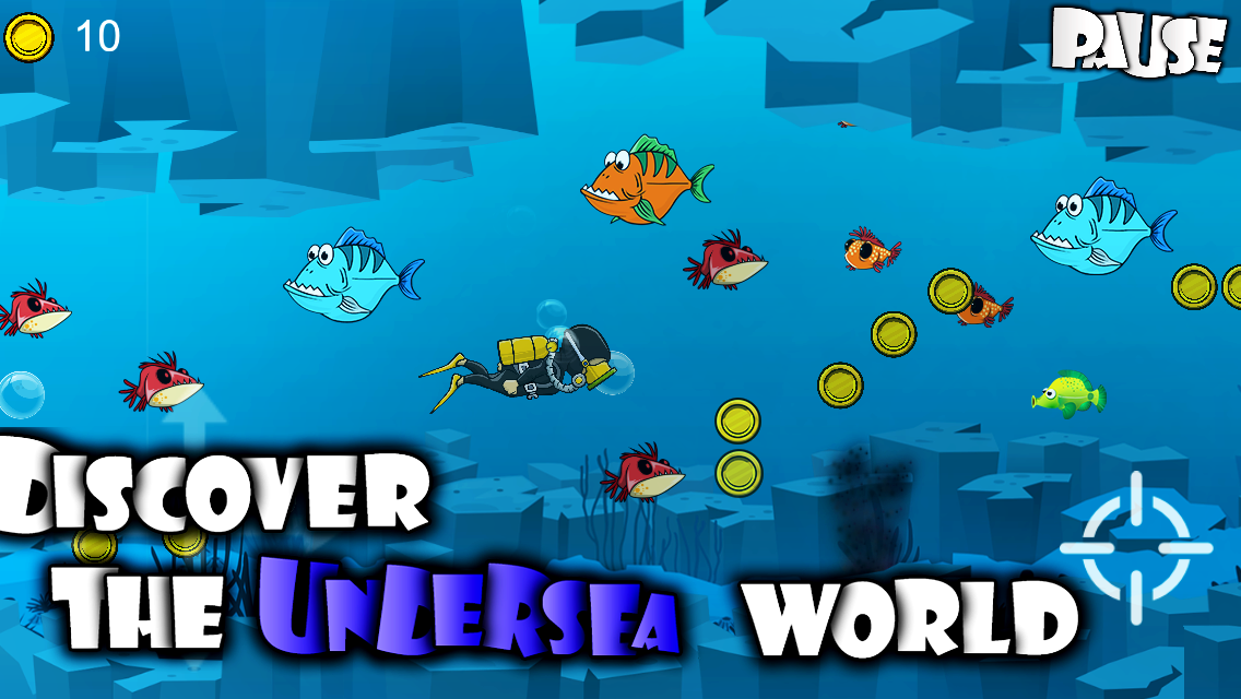 Angryshark best scuba fishing game android full for Fishing game android