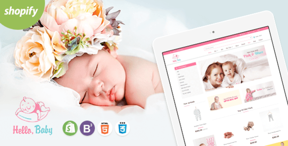 Hello Baby – Sectioned Shopify Theme