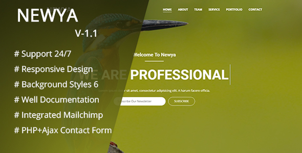 Newya - Responsive Business Template - Business Corporate