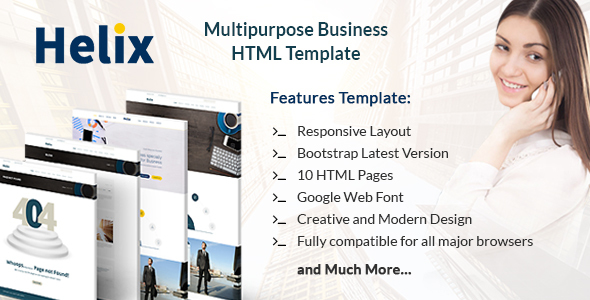 Helix – Multipurpose Business HTML Template for Professionals and Corporates