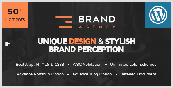 Brand Agency – One Page WordPress Theme for Agency / Business