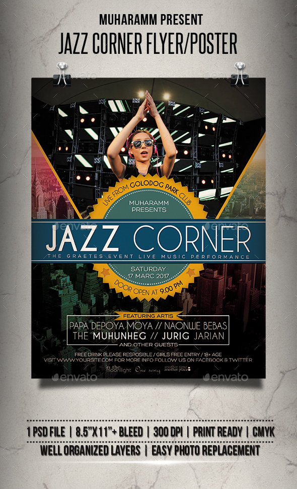 Jazz Corner Flyer / Poster - Events Flyers