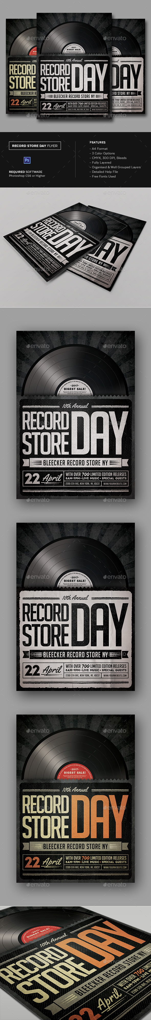 Record Store Day Flyer - Clubs & Parties Events