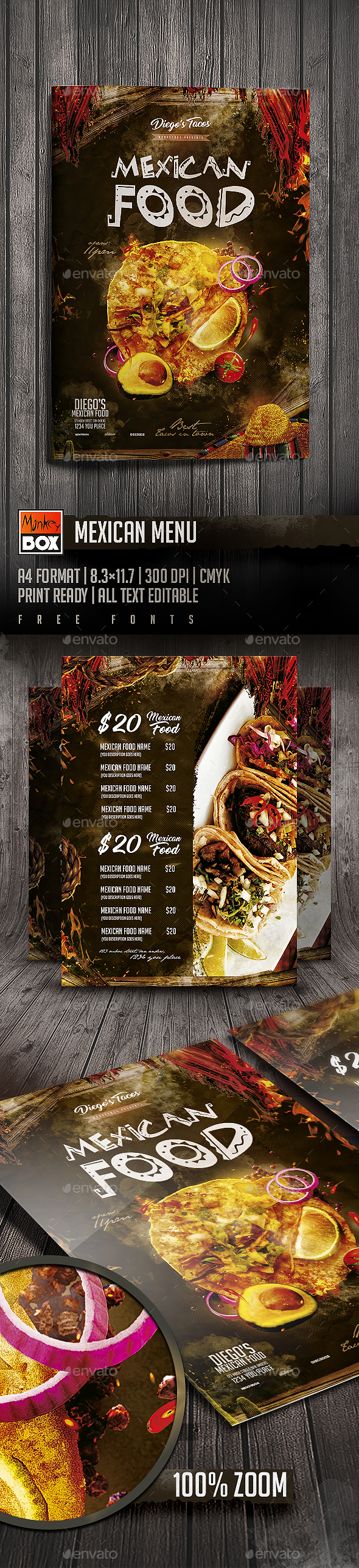 Mexican Menu - Restaurant Flyers