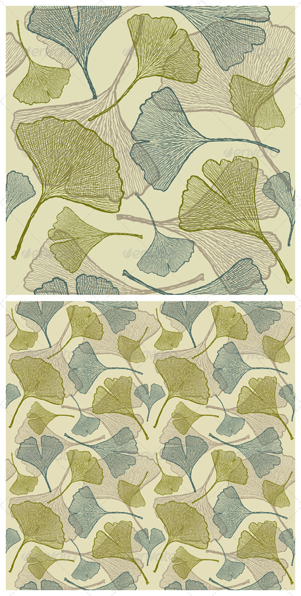 Seamless Ginkgo Background - Flowers & Plants Nature
