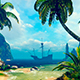 Bay Tropical Island And Ship - VideoHive Item for Sale