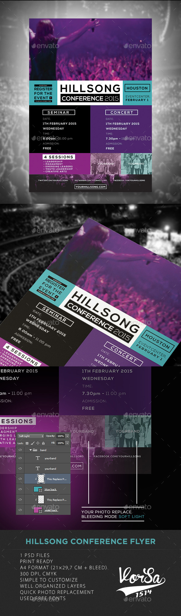 Hillsong Conference Flyer - Events Flyers