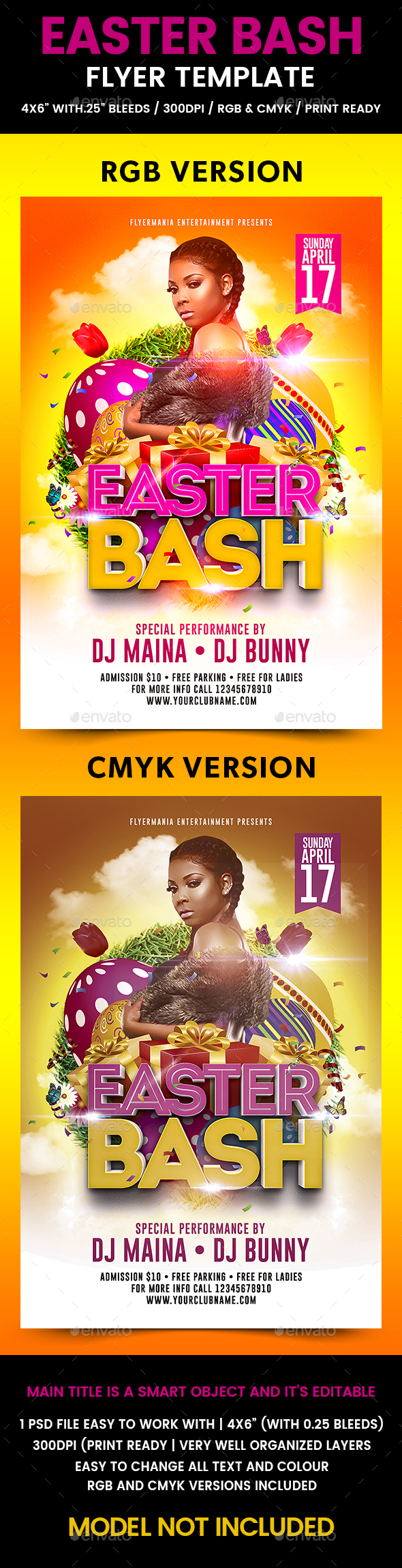 Easter Bash Flyer Template - Events Flyers