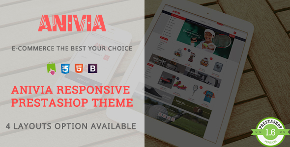 Anivia – Shopping Sports, Shoes Responsive Prestashop Theme