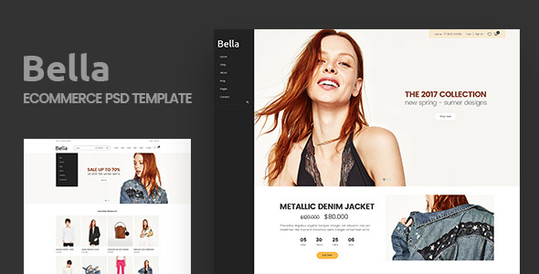 Bella – Multipurpose E-Commerce and Blog PSD Template