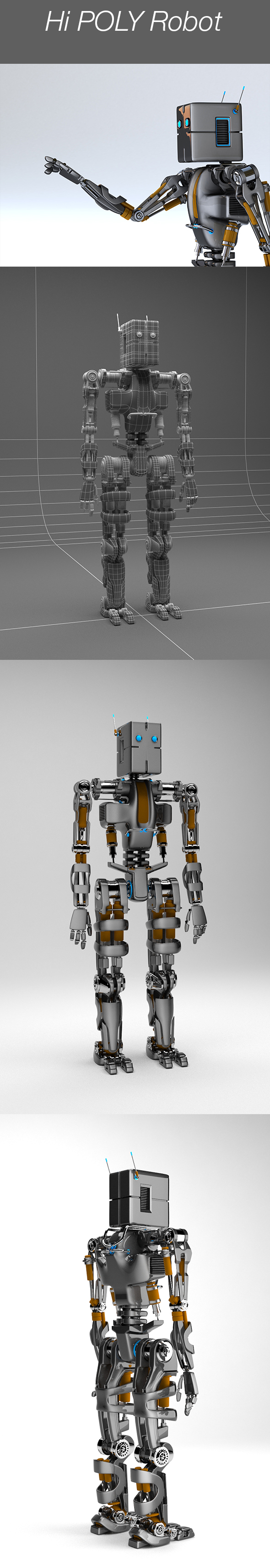 Robot - 3DOcean Item for Sale
