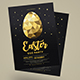 Gold Easter Egg Hunt Party Flyer - GraphicRiver Item for Sale