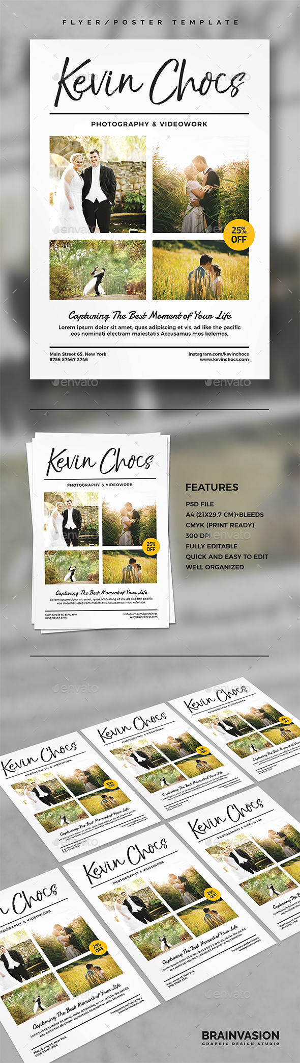 Photographer Flyer/Poster Template - Corporate Flyers