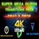 Super Mega Glitch Transitions Pack (4k UHD) - VideoHive Item for Sale