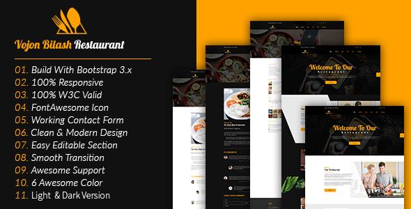 Vojon Bilash Restaurant HTML5 Template