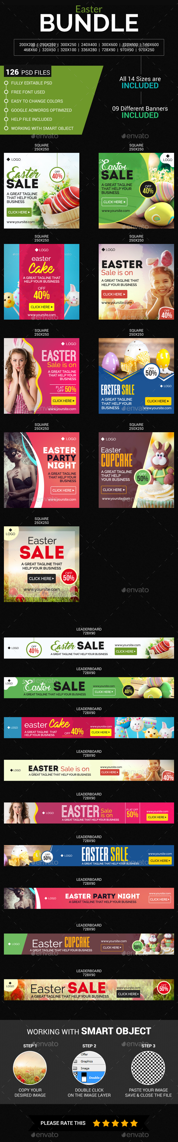 Easter Sale Bundle - Banners & Ads Web Elements