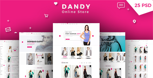 DANDY – Multi-Purpose eCommerce PSD Template