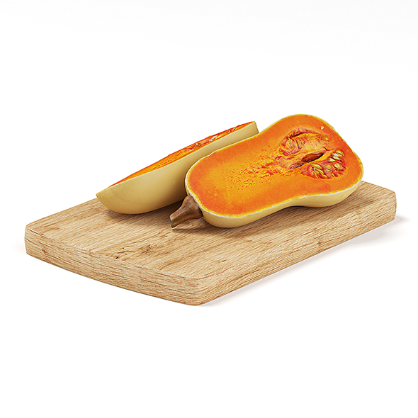 Sliced Oblong Pumpkin - 3DOcean Item for Sale