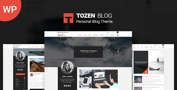 Tozen – Personal WordPress Blog Theme